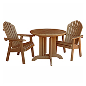 highwood® Hamilton 3pc Round Dining Set, Toffee