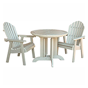 highwood® Hamilton 3pc Round Dining Set, Whitewash