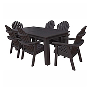 highwood® Hamilton 7pc Rectangular Dining Set, Black