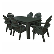 highwood® Hamilton 7pc Rectangular Dining Set, Charleston Green