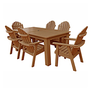 highwood® Hamilton 7pc Rectangular Dining Set, Toffee