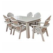 highwood® Hamilton 7pc Rectangular Dining Set, Whitewash
