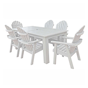 highwood® Hamilton 7pc Rectangular Dining Set, White