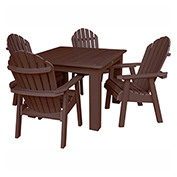 highwood® Hamilton 5pc Square Dining Set, Weathered Acorn