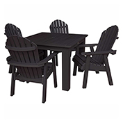 highwood® Hamilton 5pc Square Dining Set, Black