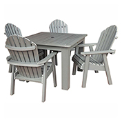 highwood® Hamilton 5pc Square Dining Set, Coastal Teak