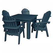 highwood® Hamilton 5pc Square Dining Set, Nantucket Blue