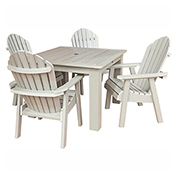 highwood® Hamilton 5pc Square Dining Set, Whitewash