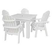 highwood® Hamilton 5pc Square Dining Set, White