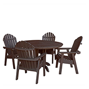 highwood® Hamilton 5pc Round Dining Set, Weathered Acorn