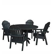 highwood® Hamilton 5pc Round Dining Set, Black