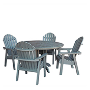 highwood® Hamilton 5pc Round Dining Set, Coastal Teak