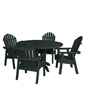 highwood® Hamilton 5pc Round Dining Set, Charleston Green