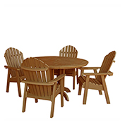 highwood® Hamilton 5pc Round Dining Set, Toffee