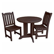 highwood® Lehigh 3pc Round Dining Set, Weathered Acorn