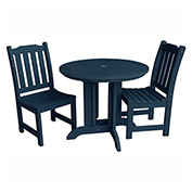highwood® Lehigh 3pc Round Dining Set, Nantucket Blue