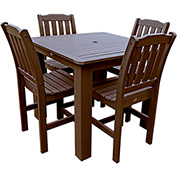 Highwood® Synthetic Wood 5-pc Dining Set, 42 X 42, Weathered Acorn