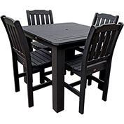 Highwood® Synthetic Wood 5-pc Dining Set, 42 X 42, Black