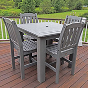 Highwood® Synthetic Wood 5-pc Dining Set, 42 X 42, Coastal Teak