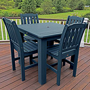 Highwood® Synthetic Wood 5-pc Dining Set, 42 X 42, Nantucket Blue