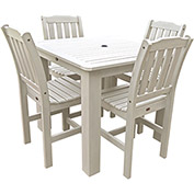 Highwood® Synthetic Wood 5-pc Dining Set, 42 X 42, Whitewash