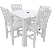 Highwood® Synthetic Wood 5-pc Dining Set, 42 X 42, White