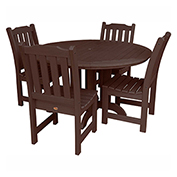 highwood® Lehigh 5pc Round Dining Set, Weathered Acorn