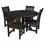 highwood® Lehigh 5pc Round Dining Set, Black