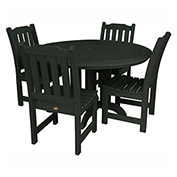 highwood® Lehigh 5pc Round Dining Set, Charleston Green