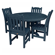 highwood® Lehigh 5pc Round Dining Set, Nantucket Blue