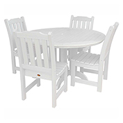 highwood® Lehigh 5pc Round Dining Set, White
