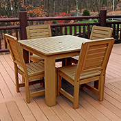 Highwood Synthetic Wood 5-pc Dining Set, w/ Weatherly Dining Chairs, Toffee by Dining Room Chairs