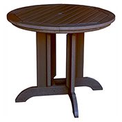 highwood® Round 36 Diameter Dining Table, Weathered Acorn