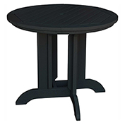 highwood® Round 36 Diameter Dining Table, Black