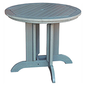 highwood® Round 36 Diameter Dining Table, Coastal Teak