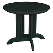 highwood® Round 36 Diameter Dining Table, Charleston Green