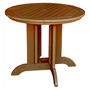 highwood® Round 36 Diameter Dining Table, Toffee