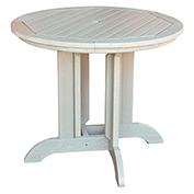 highwood® Round 36 Diameter Dining Table, Whitewash