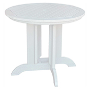 highwood® Round 36 Diameter Dining Table, White