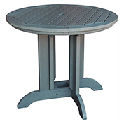 highwood® Round 48 Diameter Dining Table, Coastal Teak