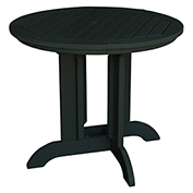 highwood® Round 48 Diameter Dining Table, Charleston Green