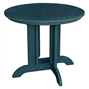 highwood® Round 48 Diameter Dining Table, Nantucket Blue