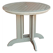highwood® Round 48 Diameter Dining Table, Whitewash