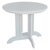 highwood® Round 48 Diameter Dining Table, White