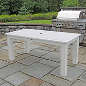 Highwood® Synthetic Wood Dining Table, 36 X 72, White