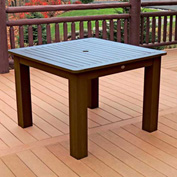 Highwood® Synthetic Wood Dining Table, 42 X 42, Weathered Acorn