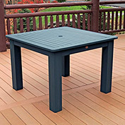 Highwood® Synthetic Wood Dining Table, 42 X 42, Nantucket Blue
