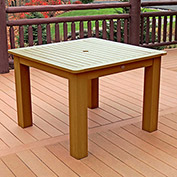Highwood® Synthetic Wood Dining Table, 42 X 42, Toffee