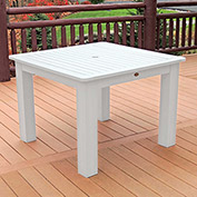 Highwood® Synthetic Wood Dining Table, 42 X 42, White