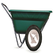 "High Country Plastics Dura Cart/Dolly, DC-7-WF, 7 Cu. Ft. with 16"" Bike Tire Worry Free"